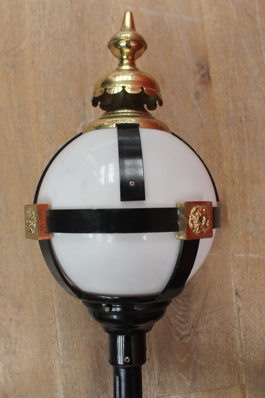 Aluminium and brass street lamp - Image 2 of 2