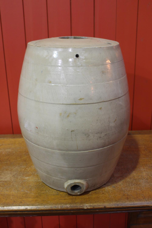 19th C. glazed earthenware dispenser