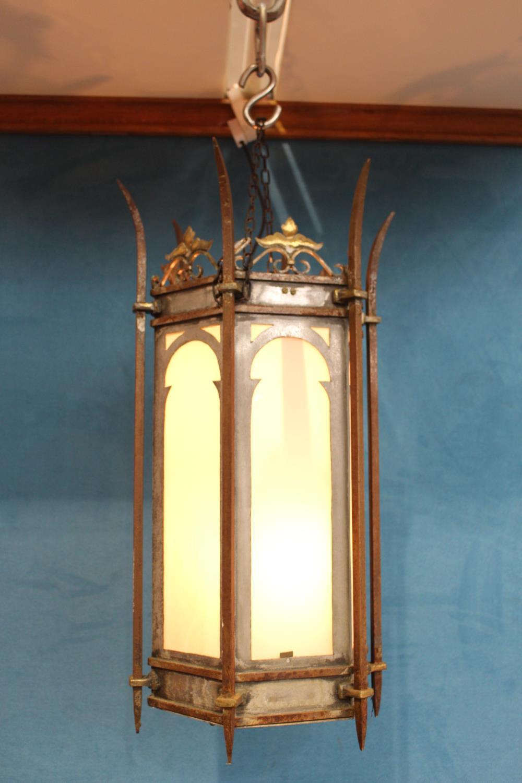 Metal hanging lantern
