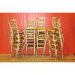 Set of twenty banqueting stacking chairs.