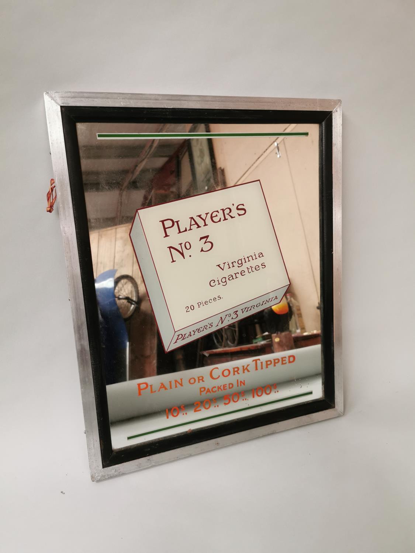Player's No 3 Virginia Cigarettes advertising mirror.