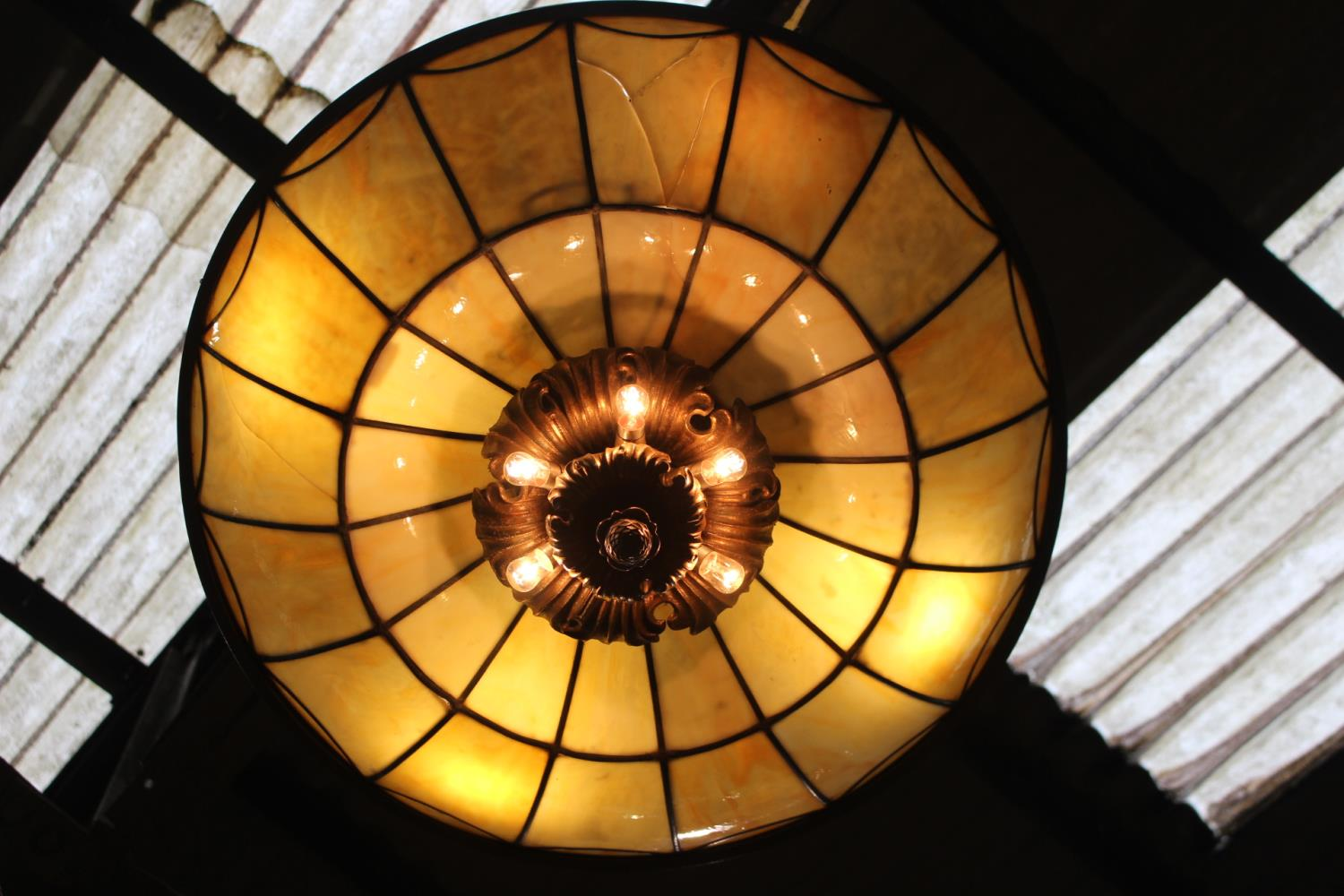 Bronze hanging ceiling light - Image 2 of 2