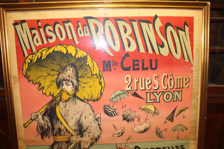 Maison Du Robinson Mlle Celu Umbrella advertising sign. - Image 2 of 2