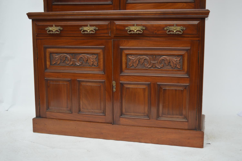 Edwardian mahogany two door bookcase. - Image 2 of 3