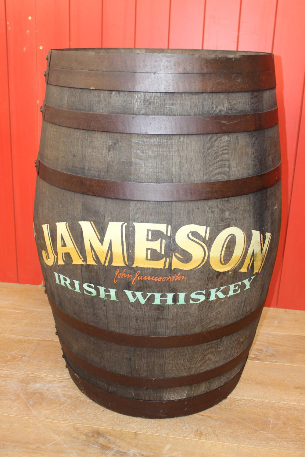 Wooden Metal bound whiskey barrel - Image 2 of 2