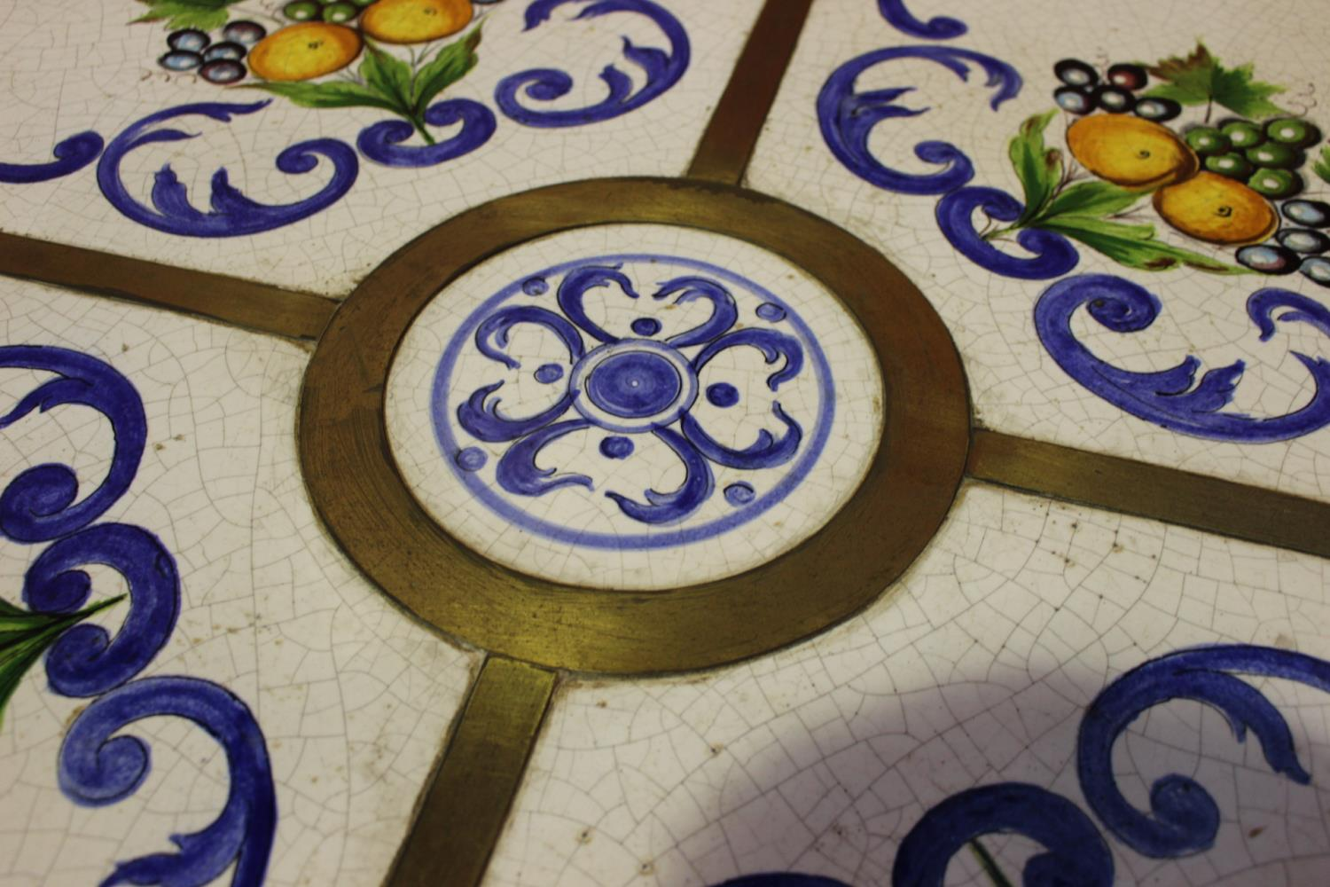 Ceramic dining room table - Image 2 of 2