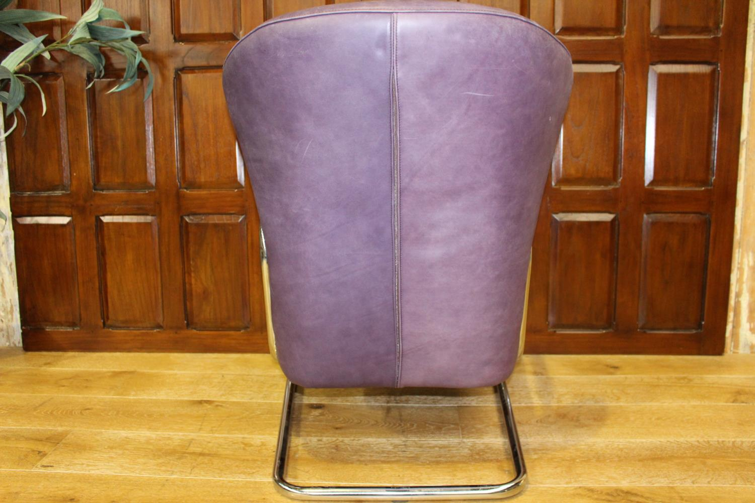 Leather designer chair - Image 2 of 2