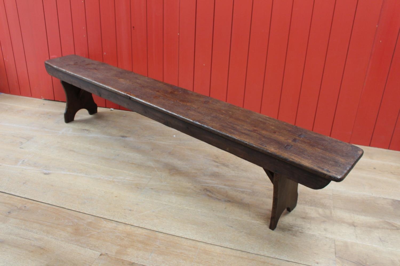 19th C. oak bench