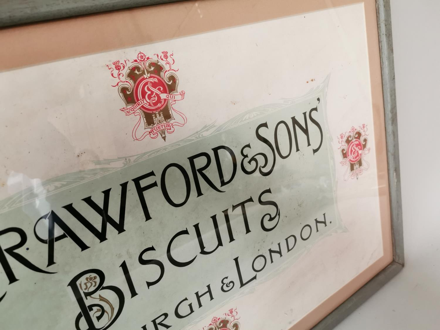 Crawford's & Sons Biscuits framed advertisement. - Image 3 of 4