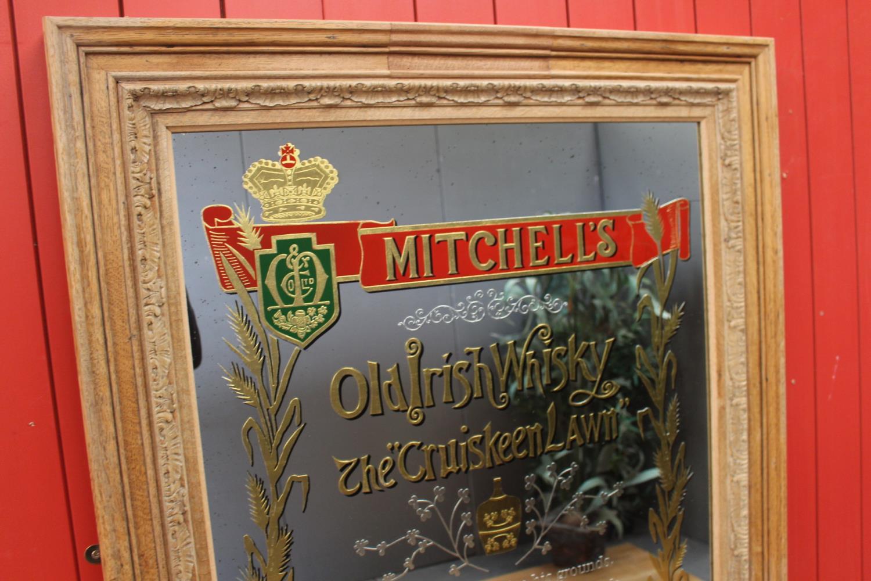 Mitchell's Old Irish Whisky advertising mirror. - Image 4 of 4