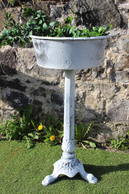 Cast iron garden planter