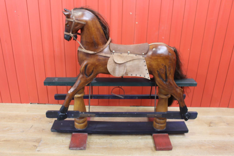Mahogany rocking horse