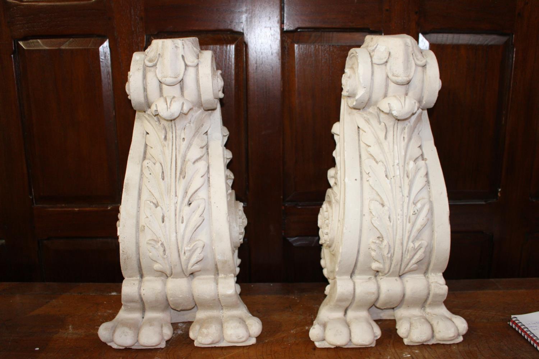Pair plaster corbels