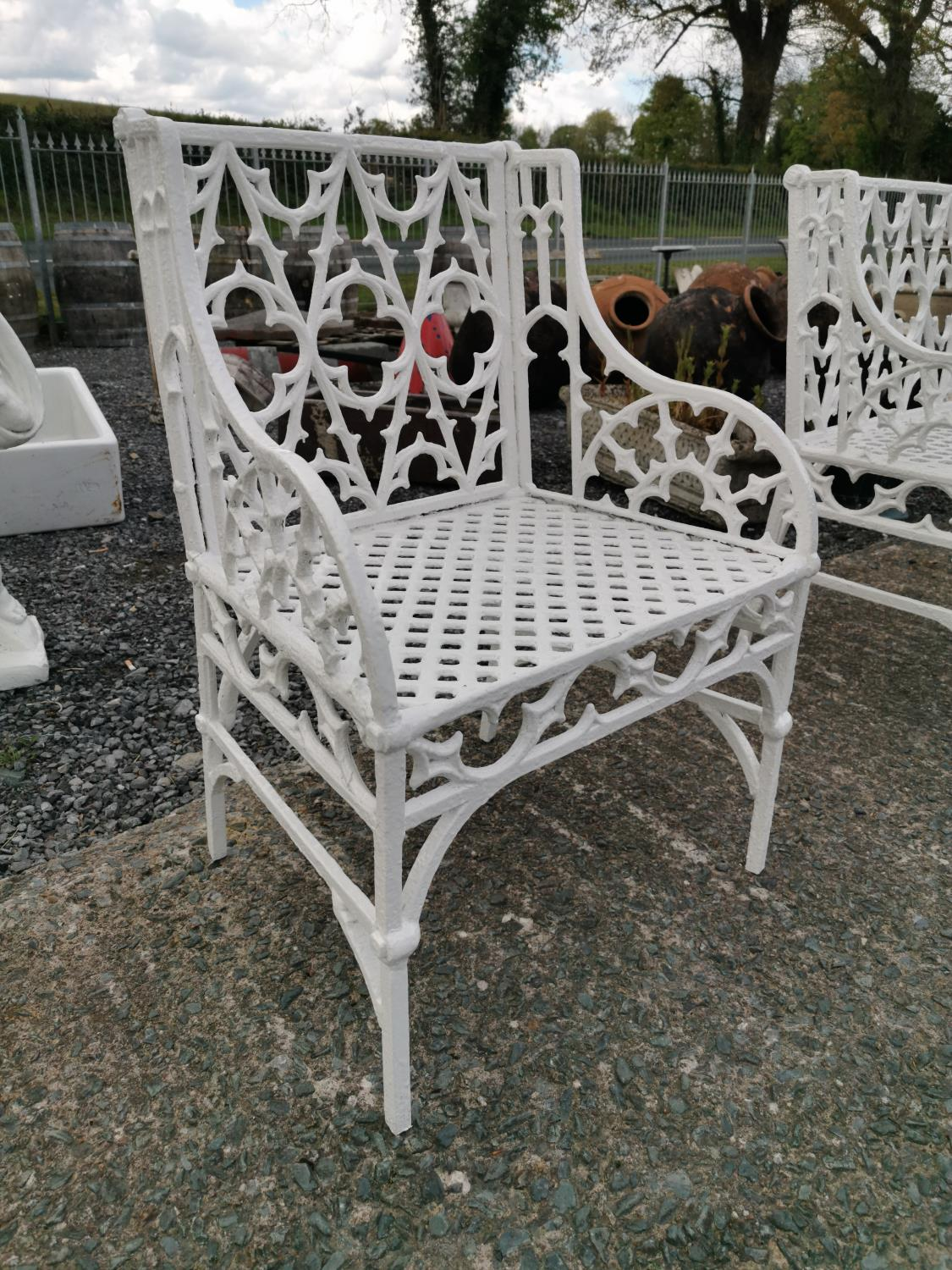 19th. C. cast iron Gothic Chair - Image 3 of 3