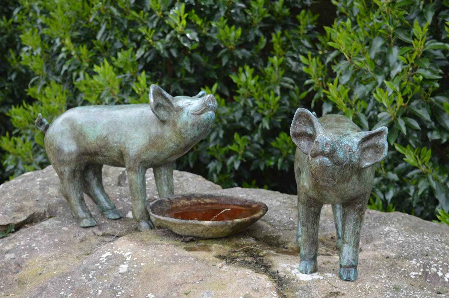 Pair of bronze models of piglets. - Image 2 of 2