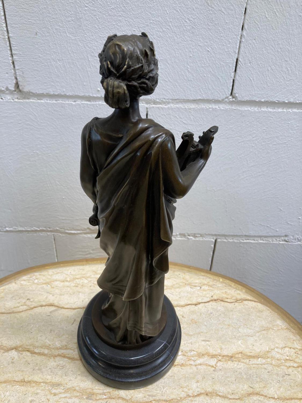 "Bronze Statue - Set of four ""Allegorical Figures"". - Image 10 of 12"