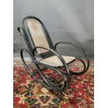 Early 20th. C. bentwood rocking chair