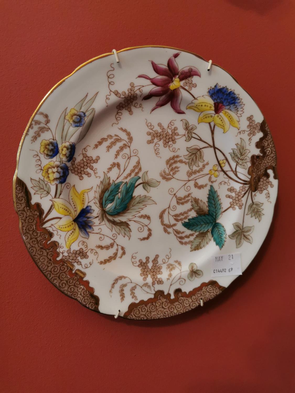 Pair of 19th C. decorative ceramic plates - Image 2 of 2