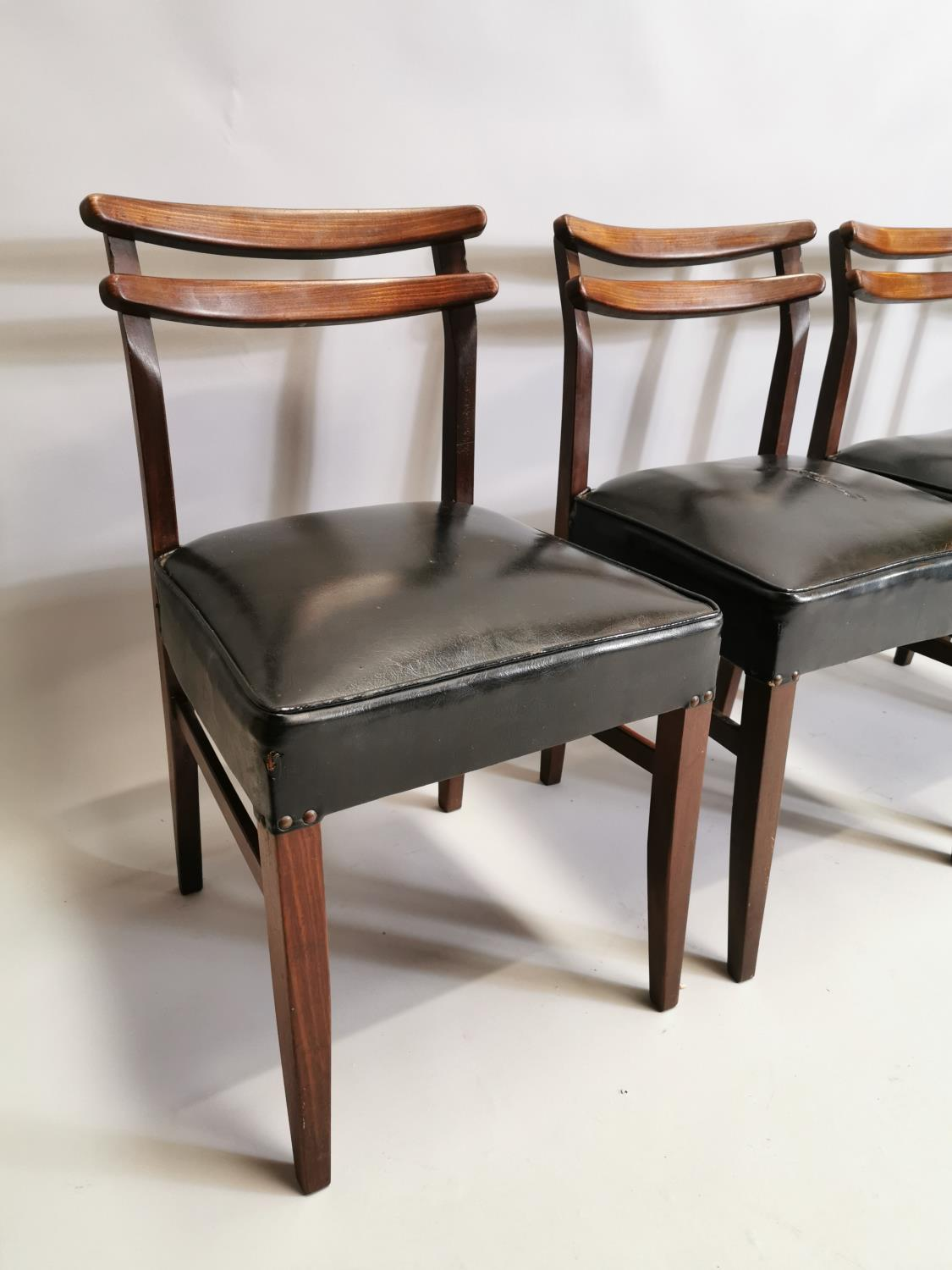 Set of four mid century chairs - Image 3 of 5