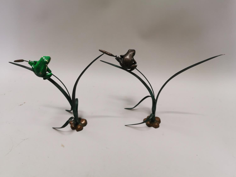 Pair of bronze sculptures of frogs - Image 6 of 7