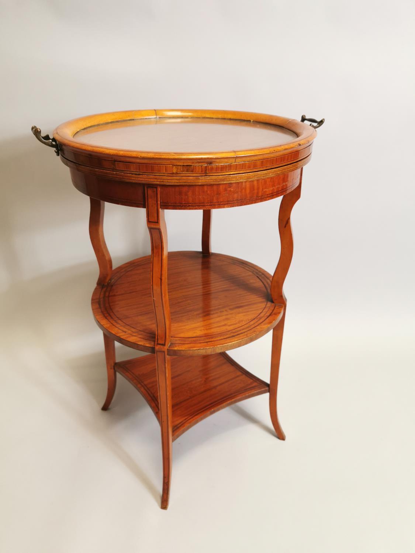19th. C. satinwood wine table