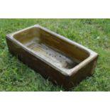 Terracotta rectangular sink .