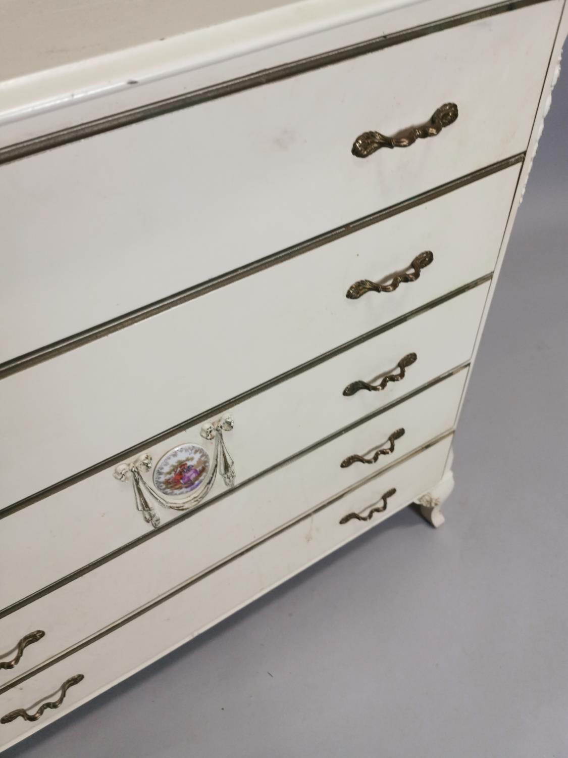 Painted chest with five long drawers - Image 4 of 7