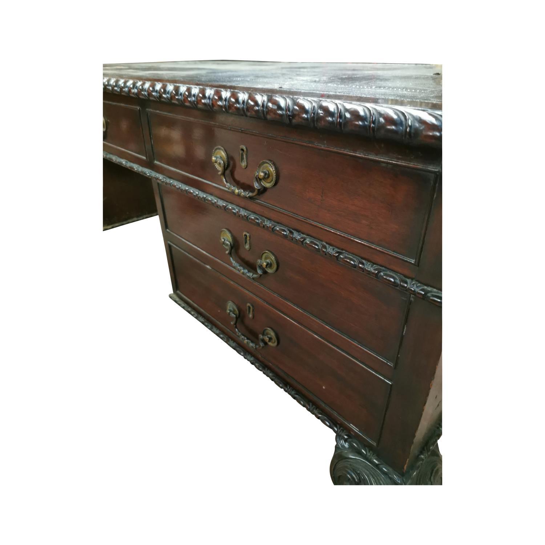 19th. C. mahogany writing desk, - Image 4 of 7