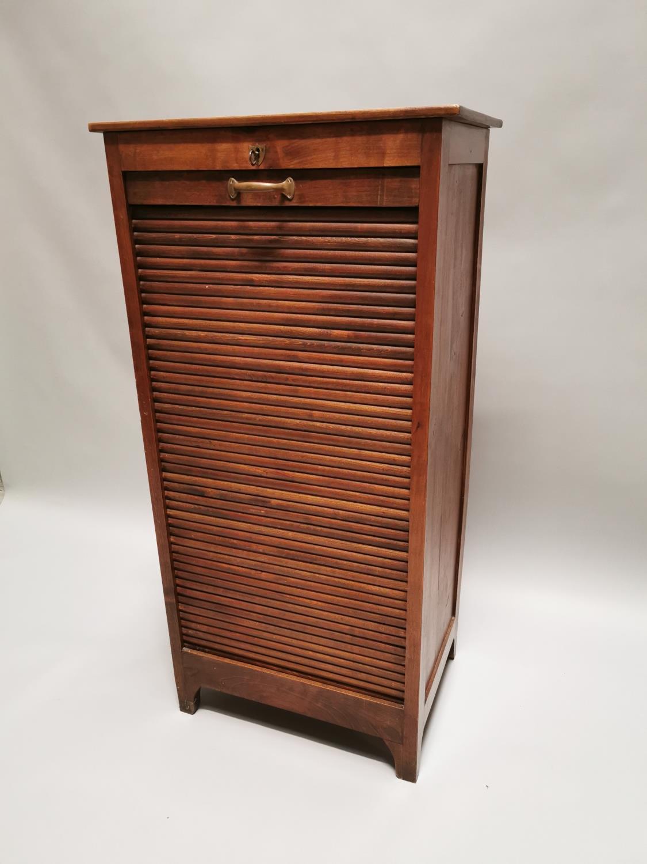 Early 20th. C. oak filing cabinet