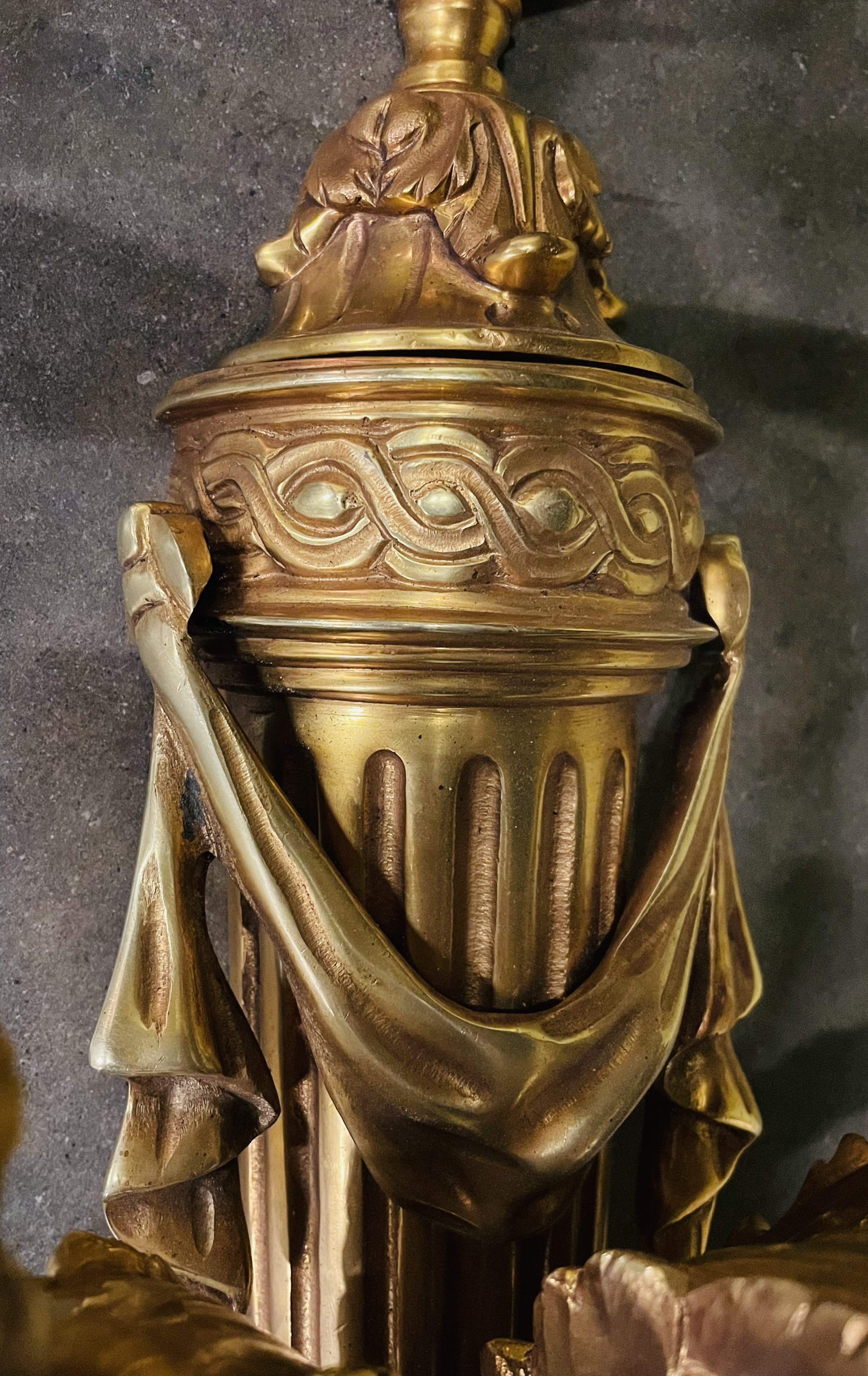 Three branch Gilded Bronze Wall Sconces - Image 2 of 2