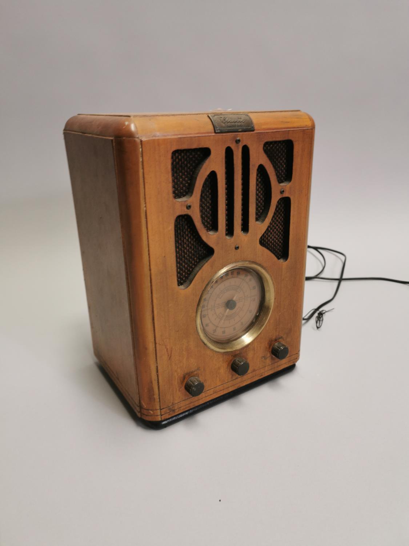 Art Deco style radio.