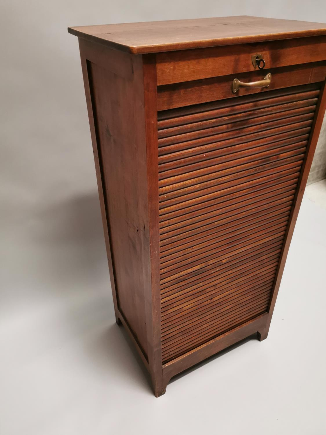 Early 20th. C. oak filing cabinet - Image 6 of 7