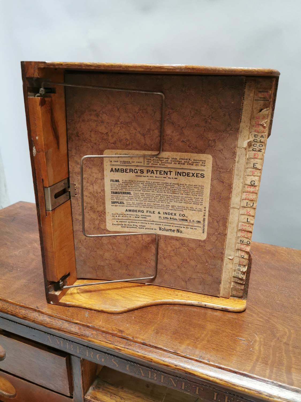Rare Art Deco oak bank of fifteen drawers - Image 8 of 8