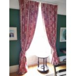Two pairs of curtains and ties