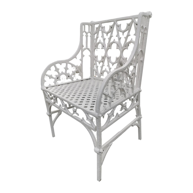 19th. C. cast iron Gothic Chair