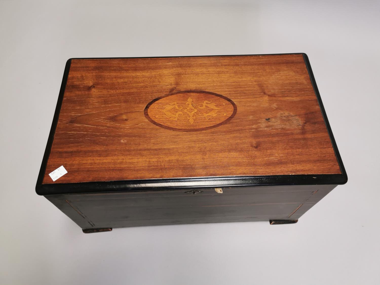 19th. C. mahogany and ebonised music box