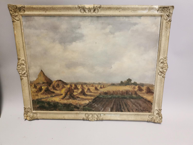 Pie Schmits The Hay Field Oil on Canvas