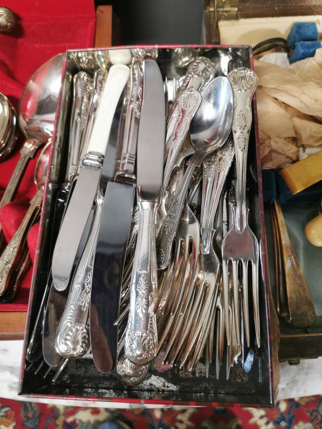 Two sets of Kings pattern cutlery and another set - Image 3 of 4