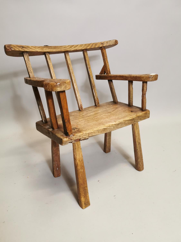 18th. C. Irish ash hedge armchair