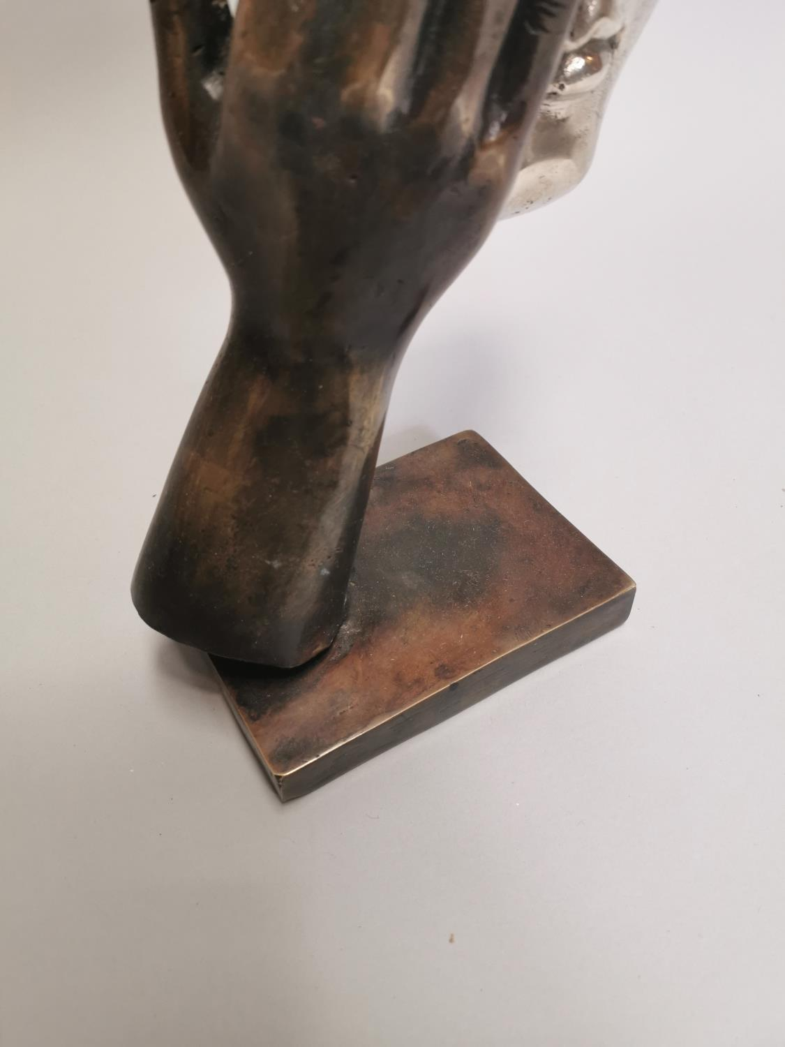 Bronze model of a hand and mask - Image 4 of 7