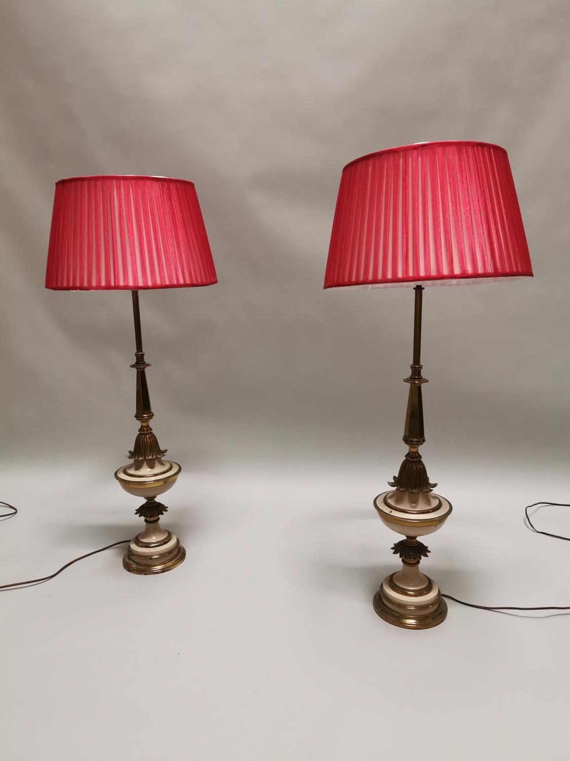 Good quality pair of table lamps