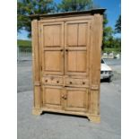 19th C. Irish pine cupboard.