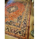 Persian hand knotted carpet square