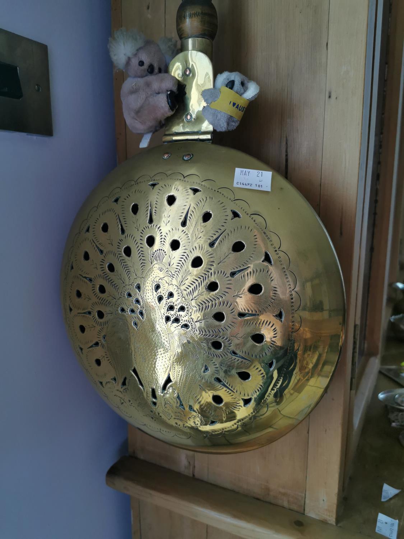 Brass and mahogany chestnut roaster - Image 2 of 2