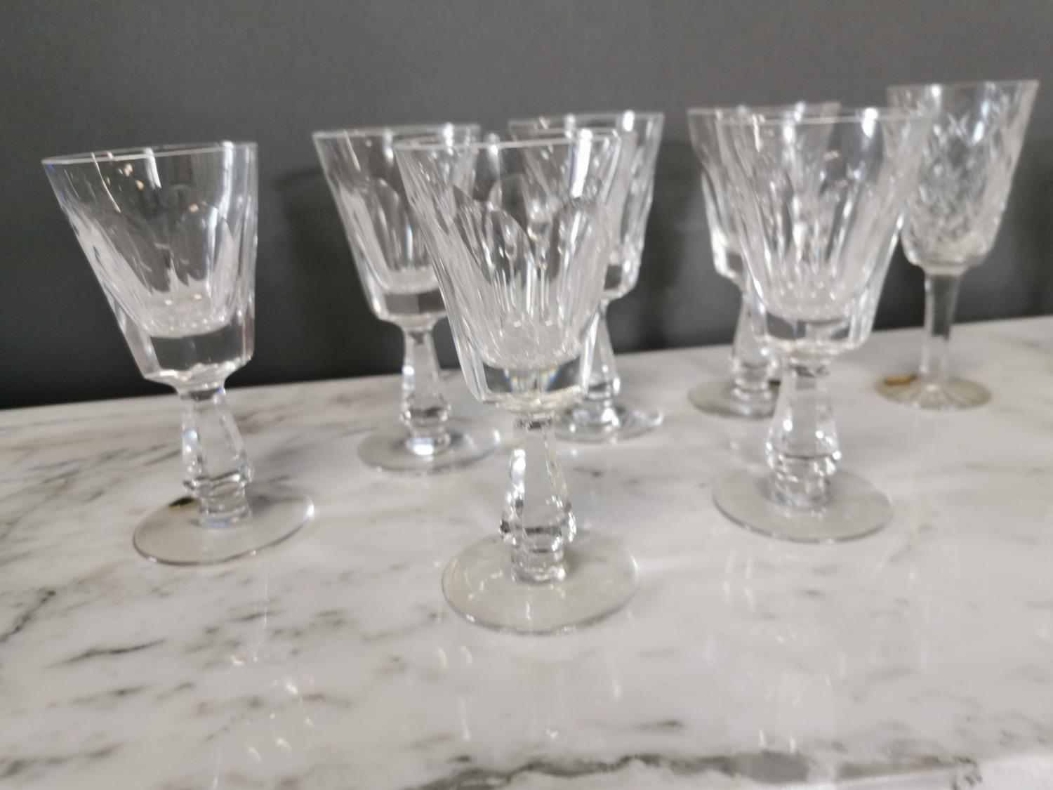 Ten Waterford crystal sherry glasses - Image 2 of 3