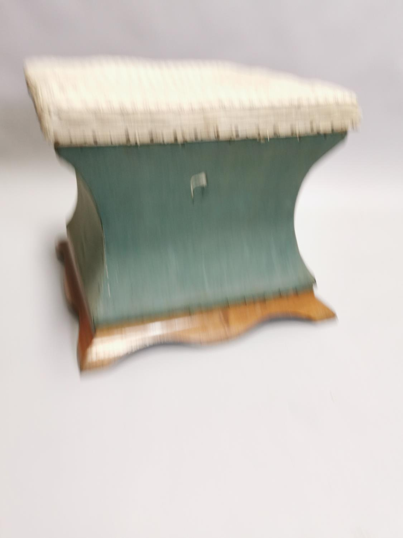 Edwardian mahogany upholstered ottoman