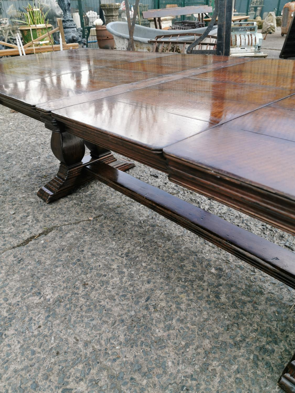 Good quality oak refectory table - Image 6 of 8