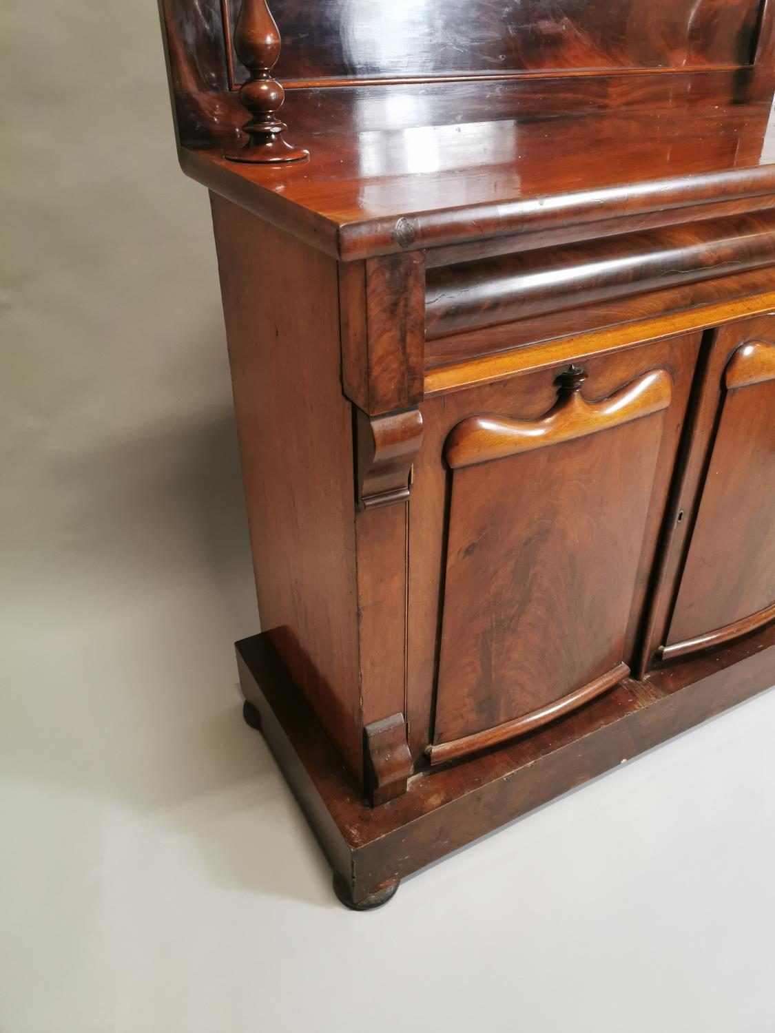 William IV carved mahogany side cabinet - Image 4 of 8