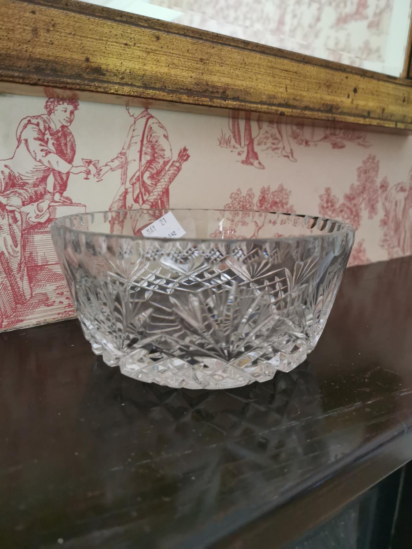Cut glass bow, dish and Somerset jug