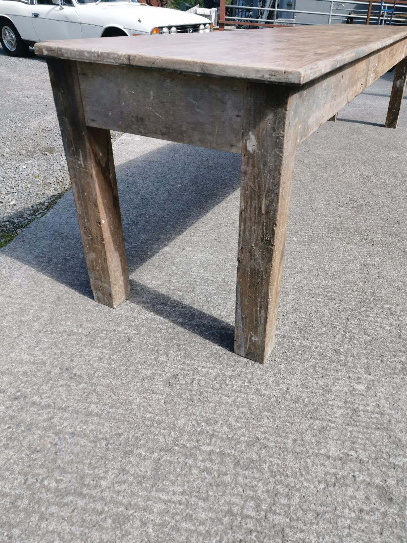 19th C. Irish pine table. - Image 6 of 8